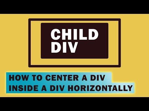 How to Center a Div Inside a DIV Horizontally | Quick Tutorial