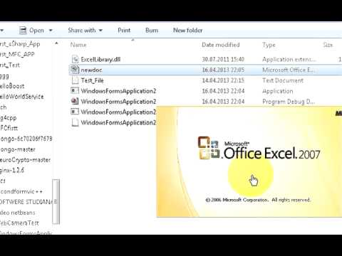 C# Tutorial 28: Create Excel (.XLS and .XLSX) file from C#  Using excellibrary