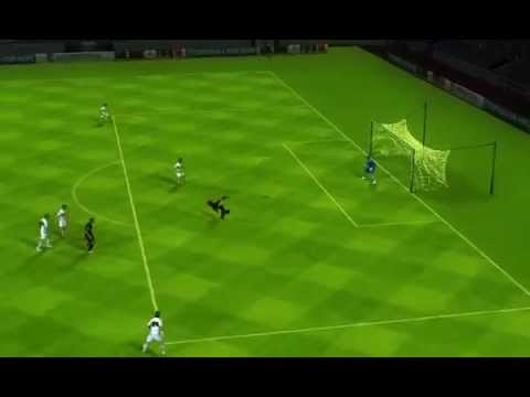 Messi's Bicycle Kick From Neymar's Assist On FIFA 14 - Elche CF VS FC Barcelona