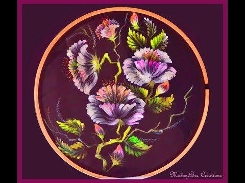 learn fabric painting dry brush method vol 1_Mickeybee Creations