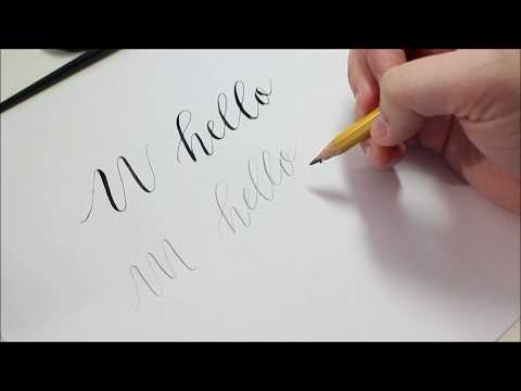 Quick Tip | Start practicing CALLIGRAPHY with a pencil!