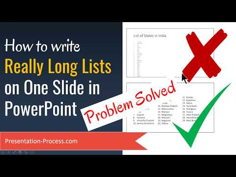 PowerPoint Tip: How to Present Long Lists on One Slide (Problem Solved)