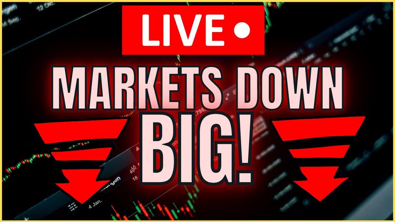 🔴 [MARKET LIVE] Markets Dropping HARD!! Technical Analysis on Apple / Tesla / Palantir