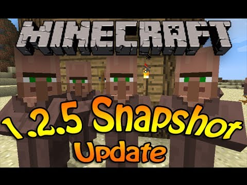 Minecraft 1.2.5 Snapshot Update - Bugs with blocks and cats - new shift click - Smarter AI and more