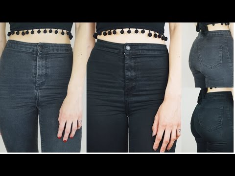 DYING MY JONI JEANS BACK TO BLACK | DIY JEANS HACK | Hannah Dorman