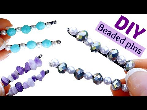 How To Make Beaded Bobby Pins I DIY Cute Hair Accessoires With Bobby Pins I Hair Pins Tutorial