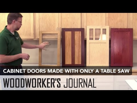 How to Make Tongue & Groove Cabinet Doors with a Table Saw