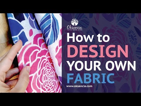 How to design your own fabric. Step-by-step fabric design tutorial with final fabric example.