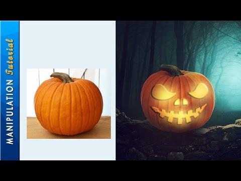 Making Pumpkin Halloween Photo Manipulation : Photoshop Tutorial