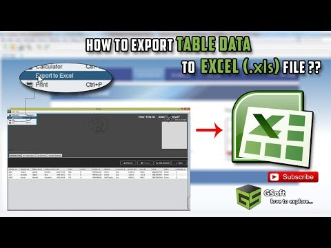 How to export table data to excel file (.xls) in hindi | sql to excel | java tutorial #24