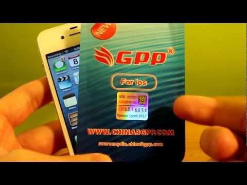 How To Program GPP Sim To Unlock Other iPhone 4S Carriers/ iOS 6.0 6.0.1 Sprint Verizon Att TMobile