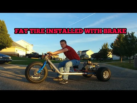 Installing the fat tire on the drift trike