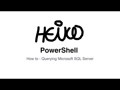 Windows PowerShell - How to - Querying Microsoft SQL Server