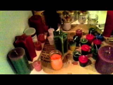 My homemade candles that I sell at events
