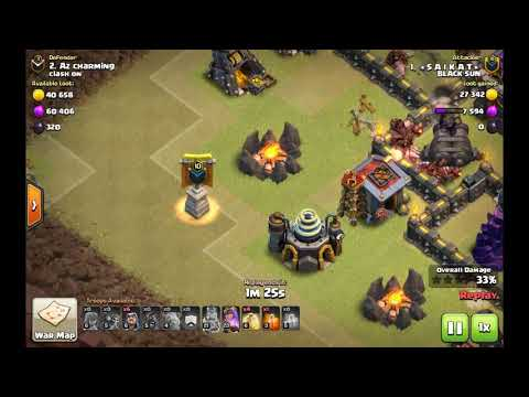 CLASH OF CLANS- TH9 GOHO STRATEGY 3* WAR .......NEW OCTOBER 2017 UPDATE!!! VALK LVL 6!!