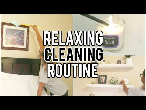 CLEAN WITH ME 2017 // RELAXING NIGHT TIME CLEANING ROUTINE// My bedroom
