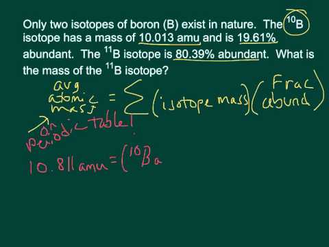Calculating the Mass for Isotopes with Natural Abundance