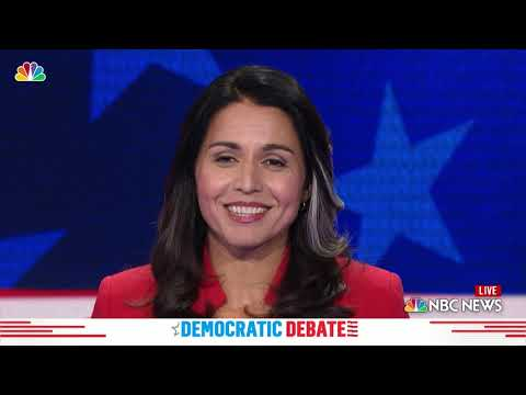 Xxx Mp4 Democratic Debate Tulsi Gabbard Explains Previous Stances On Gay Rights 3gp Sex