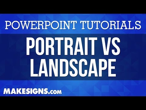 Portrait Vs. Landscape In Your PowerPoint Poster Presentations
