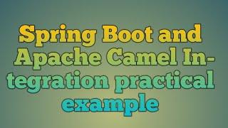 Apache Camel-Marshal/Unmarshal XML/JSON Data Example