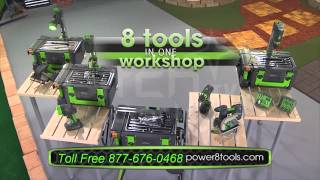 Power8 Workshop The Worlds Only Complete Cordless and Portable Workshop of It