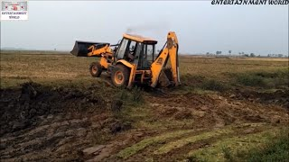 How To Survive Jcb 3dx | John Deere Tractor | Mahindra 475 DI Tractor | In Muddy Surface.