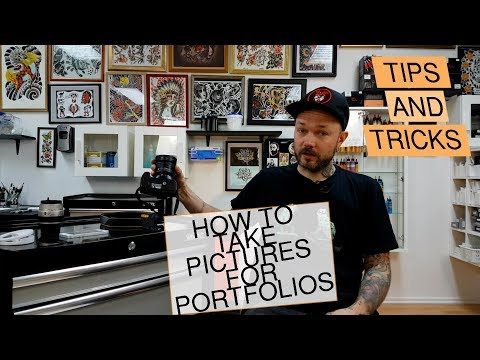 How to take pictures of Tattoos and Piercings for portfolios