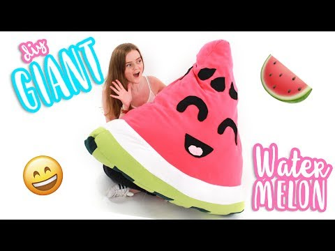 DIY GIANT Watermelon Plushie/Pillow!!