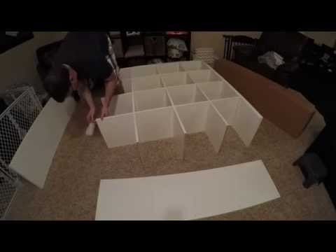 IKEA Kallax Assembly - 16 Cubes (Expedit)