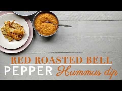 Red roasted bell pepper hummus dip recipe