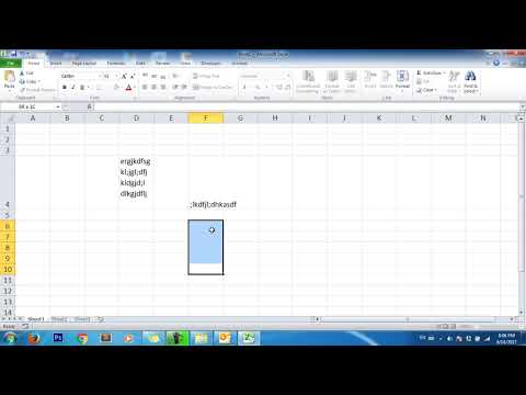 Microsoft Excel   How to type multi text line in one cell excel?