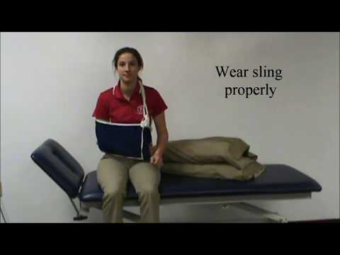 Applying an Immobilizer, Dressing, Bathing, and Sleeping After Shoulder Surgery