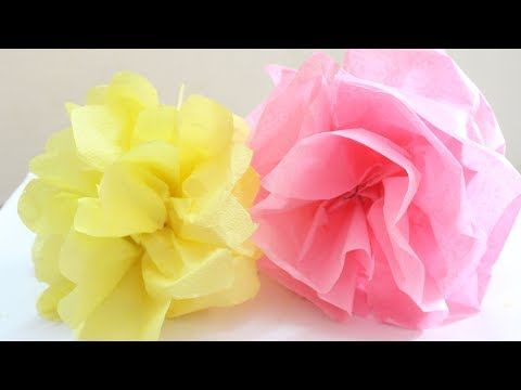How to Make Tissue Paper Pom Pom Balls