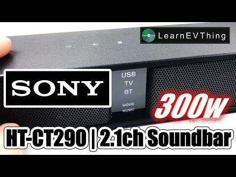 Unboxing Sony HT-CT290 Ultra slim 300W SoundBar with Bluetooth - Testing sound