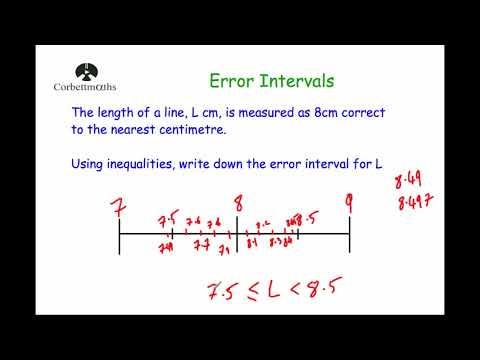 Error Intervals - Corbettmaths