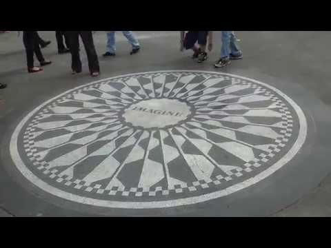 New York Manhattan: Central park - John Lennon: Strawberry fields are forever - Imagine - Beatles