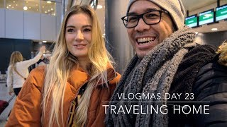 TRAVELING HOME | VLOGMAS DAY 23