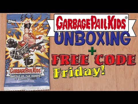 Garbage Pail Kids pack unboxing + Free VUDU Digital Movie codes : Free Code Friday : Show Some Aloha