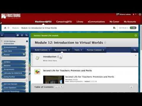 How to Create a Learning Module on Blackboard
