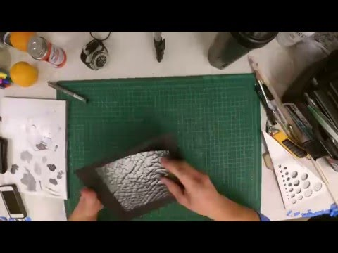 Recreating Elephant Skin   Paint & Pointillism   Time Lapse