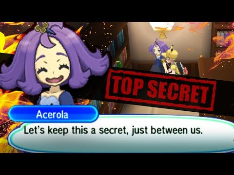 Acerola's Secret Library Book Event | Pokemon Ultra Sun and Moon Easter Eggs and Events