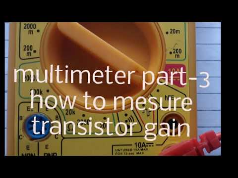 How to mesure transistor gain by using multimeter