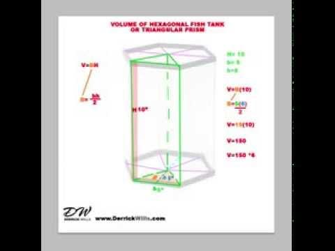 How to Find the Volume of Hexagonal Aquarium or Prism