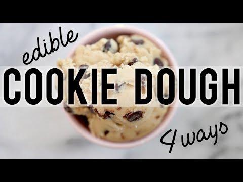EDIBLE COOKIE DOUGH: 4 WAYS | Baking w/ Meghan & BeautyBreak