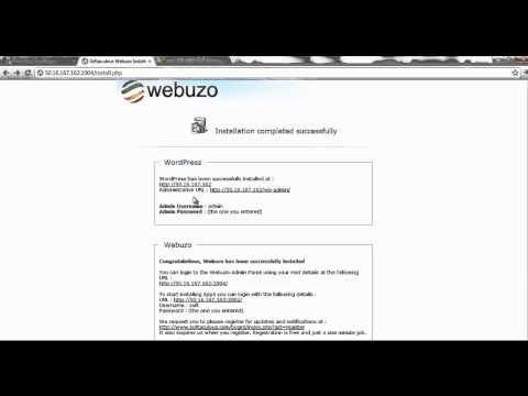 Launch Apps on Webuzo Cloud