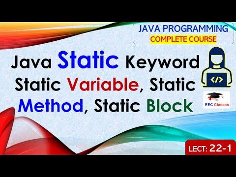 Java Static Keyword Concept - Static Variable, Static Method, Static Block
