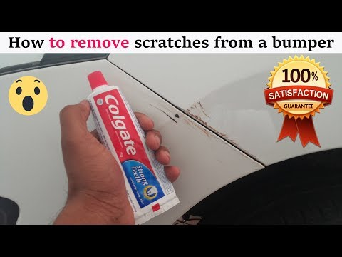 How to remove scratches from the car at home Using toothpaste  CAR CARE TIPS