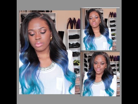 DIY: Turquoise/Blue Ombre Hair Color