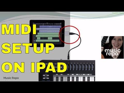 MIDI keyboard setup on iPad: Connect MIDI Keyboard Lesson 16