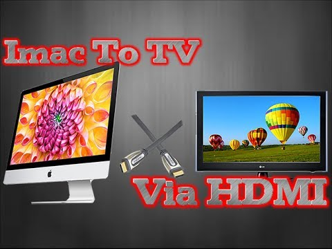 How To Hook A Imac To Tv via HDMI
